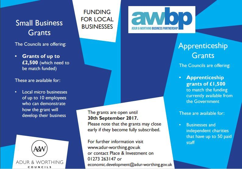lancing business park small business grant and apprenticeship